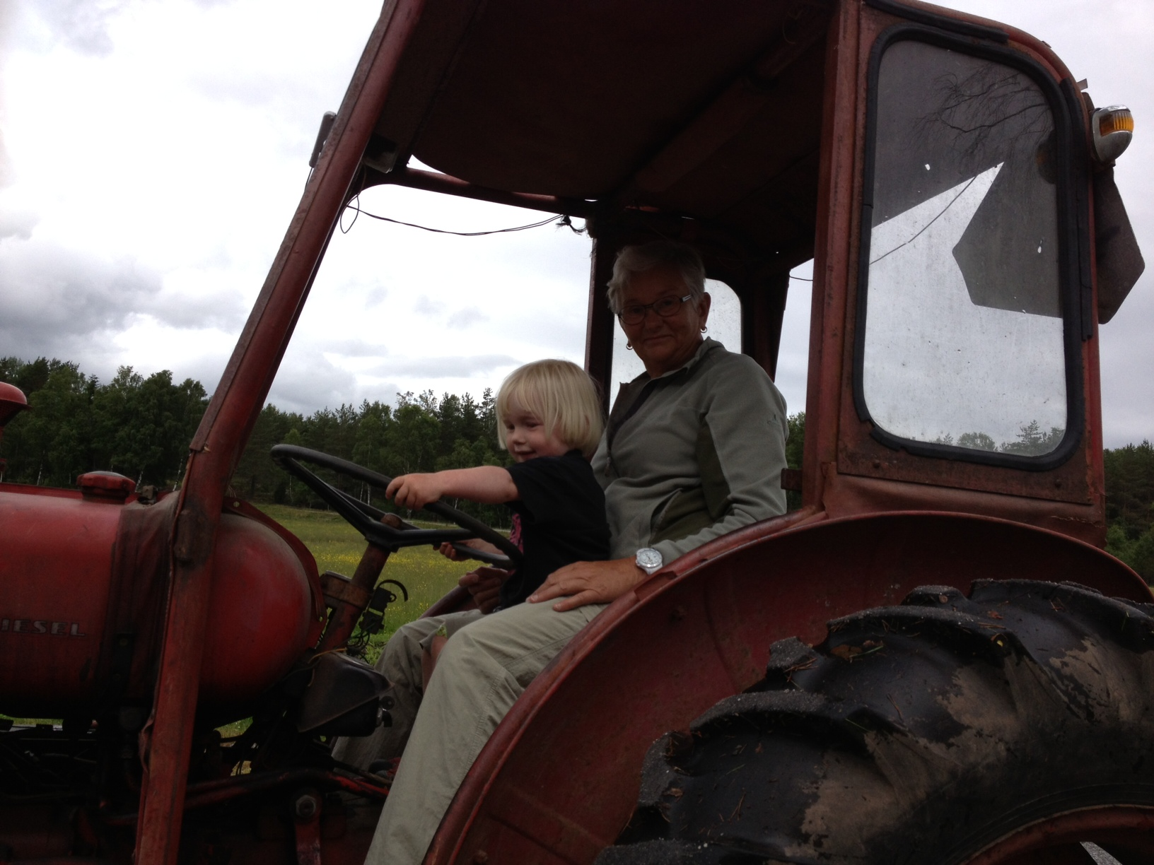 Kör traktor